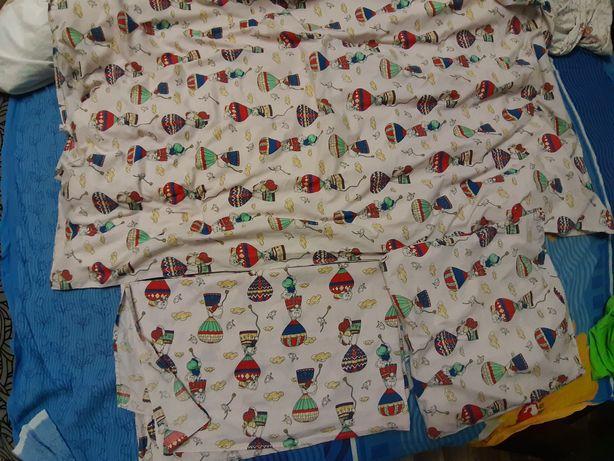 Комплект постели + одеяло, подушка на кроватку 60×120