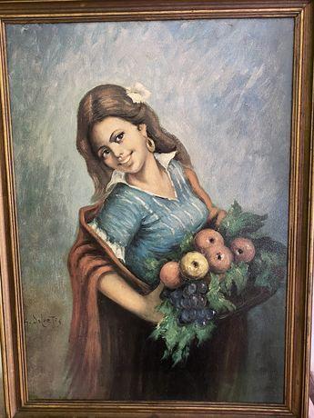Quadro Cinquentenario-Menina da Fruta