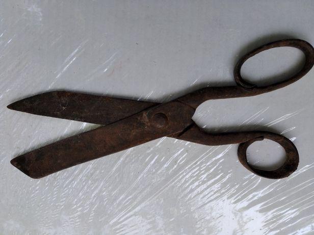 Ножницы старинные кованые портновские закройщика