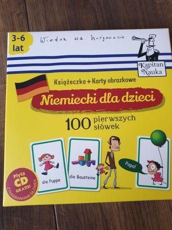 Niemiecki karty obrazkowe cd książeczka kapitan nauka