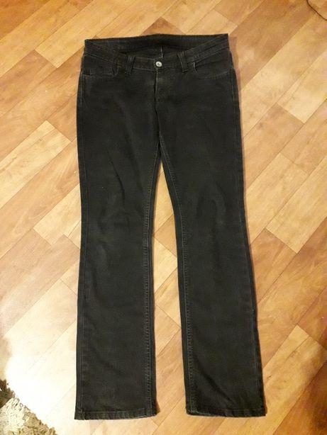 Czarne spodnie dzinsy proste jeansy big star M