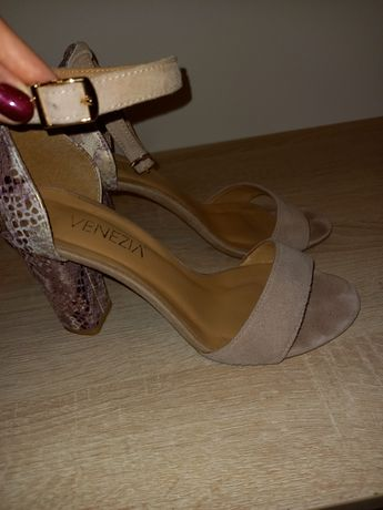 Zamszowe sandały Venezia 36,nowe,ślub,wesele