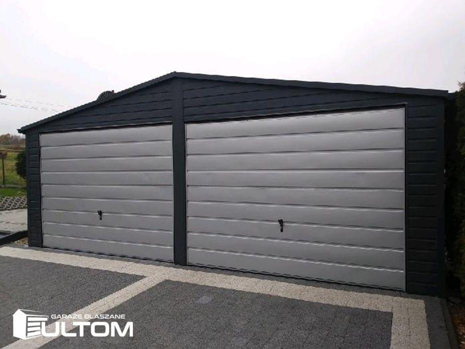 Garaż blaszany dwuspadowy blacha kolor garaże blaszaki na wymiar ULTOM