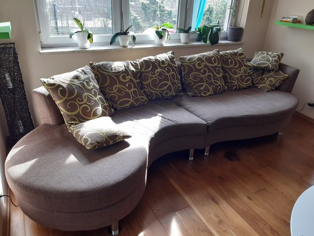 Sofa, kanapa duża 310 cm, gratis pufa w tym samym kolorze