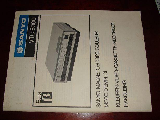 Manual Betamax Sanyo VTC6000