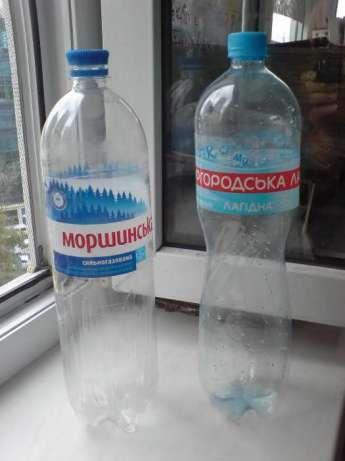 Бутылки ПЭТ пластиковые 1,5-2л из-под минералки . Фляга. Баклажка.