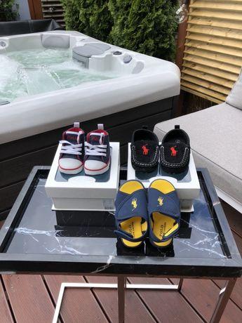 RALPH LAUREN NOWE buciki niechodki w pudełku r. 17 sneakersy trampki