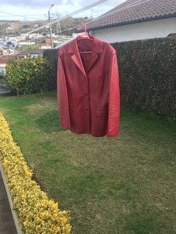 casaco em pele genuina LEATHER SWEAR