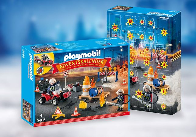 Адвент календарь Playmobil Пожарная команда. 9486