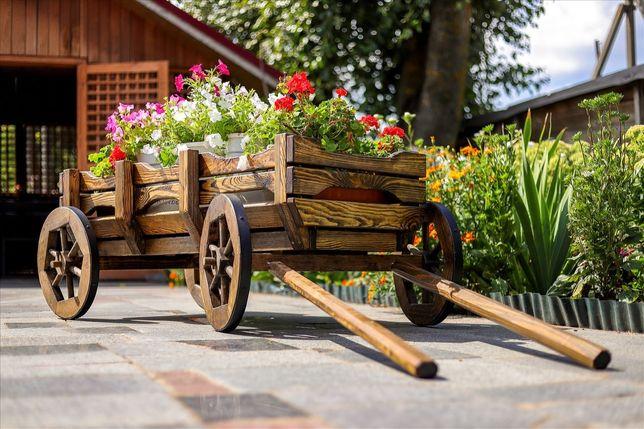 Wózek do ogrodu ręcznie robiony