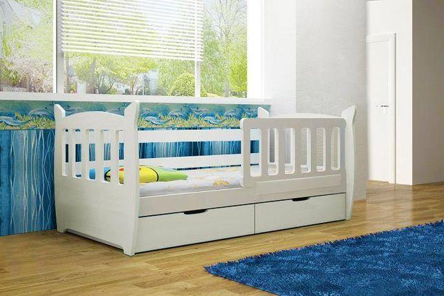 Łóżko dziecięce pojedyncze Mike - szuflady + materac w cenie!