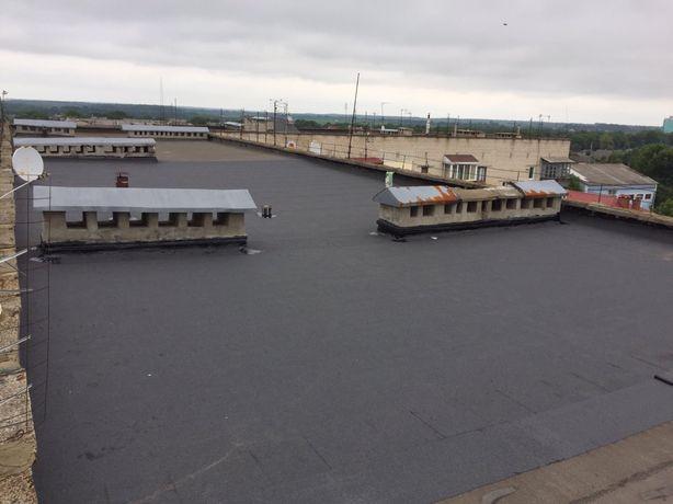 Перекриття даху рубероїдом