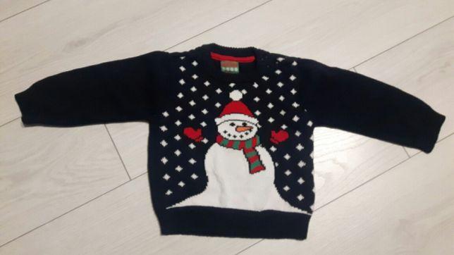 Świąteczny sweterek rozmiar 92