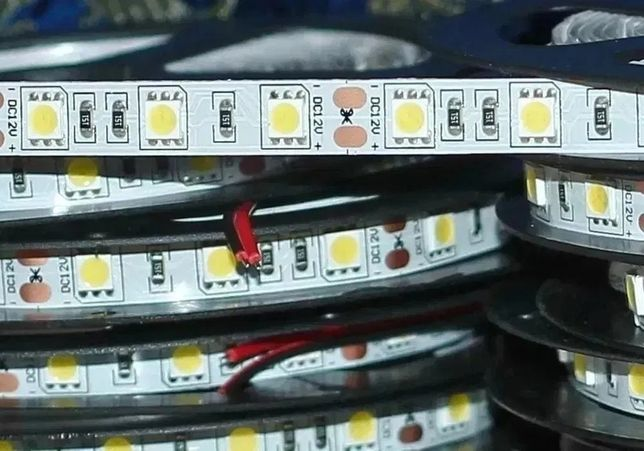 Светодиодная лента 5050, 60 светодиодов/метр, 1 метр, LED smd 5050