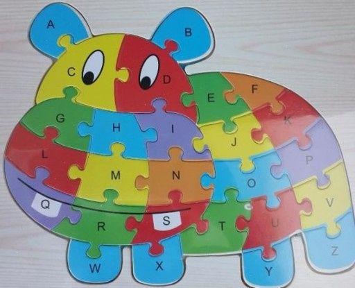 Puzzle w kształcie zwierzątek