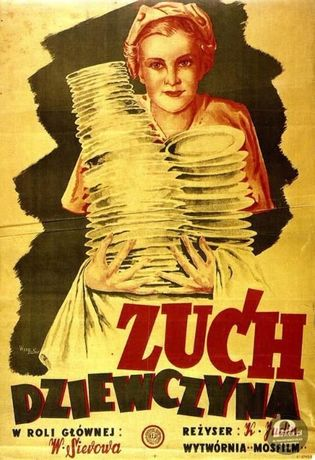 plakat PRL Zuch Dziewczyna