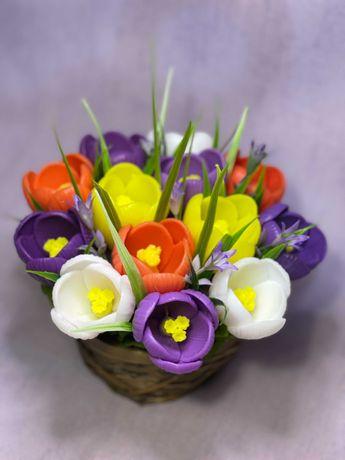 Букет из мыла ручной работы, букет цветов