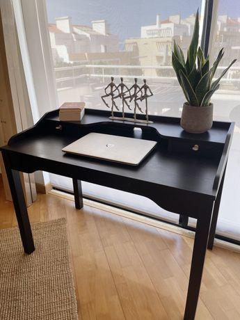 Secretária Ikea com gavetas (preto)