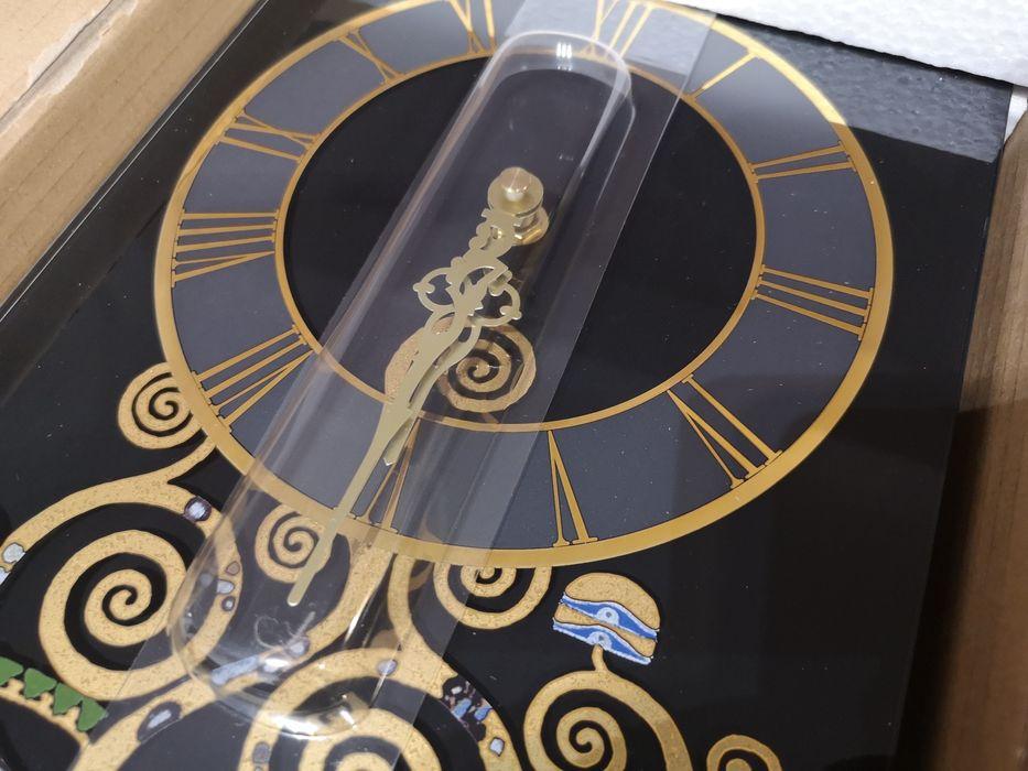 Zegar 24 karaty złoto Gustav Klimt Goebel drzewo życia Sosnowiec - image 1