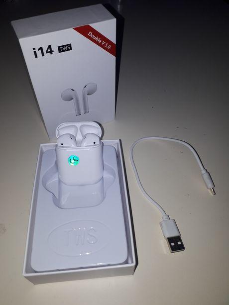 TWS i14 Słuchawki bezprzewodowe 5.0 Z POWERBANKIEM - GWARANCJA