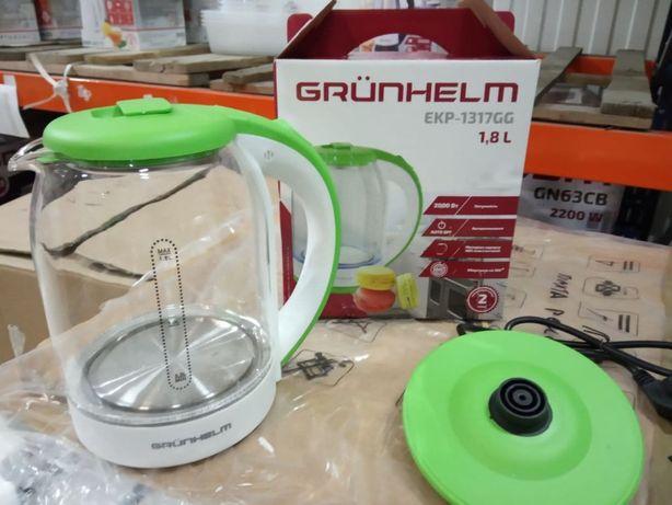 Электрочайник - EKP-1317GG (зеленый) 1,8л, 2000 Вт, дисковый GRUNHELM