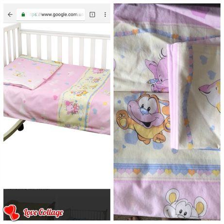 Новый !!! Комплект детского постельного для манежа, кроватки