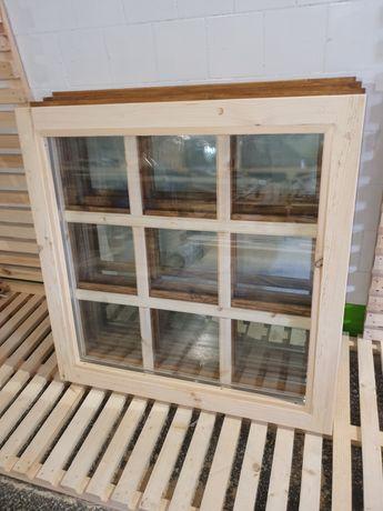 Okno drewniane FIX 80 X 80