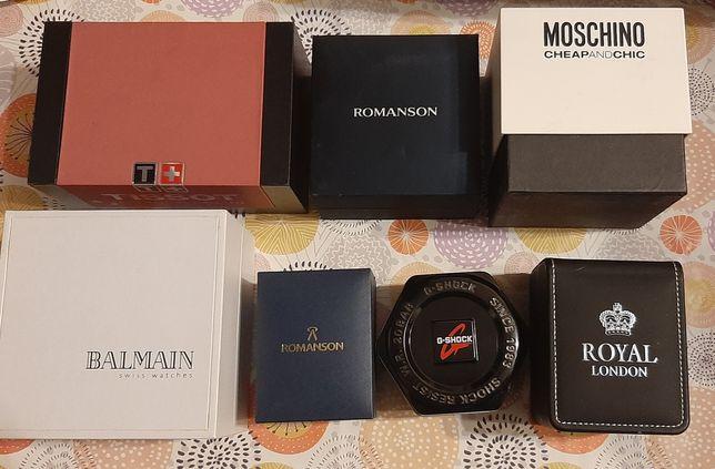Коробка от часов g-shock, romanson, royal london, разное