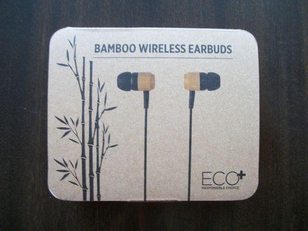 Słuchawki douszne bluetooth 5.0 bambusowe XD P329.109