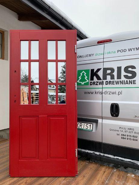 Drzwi Zewnętrzne drewniane ocieplane Angielskie różne kolory