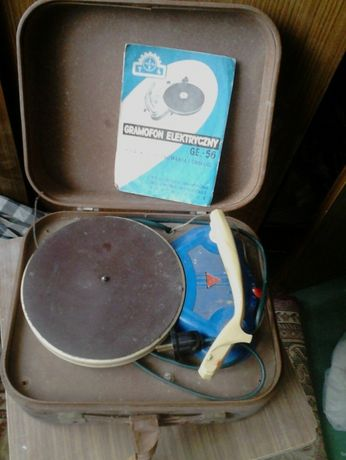 gramofon z lat 50-tych