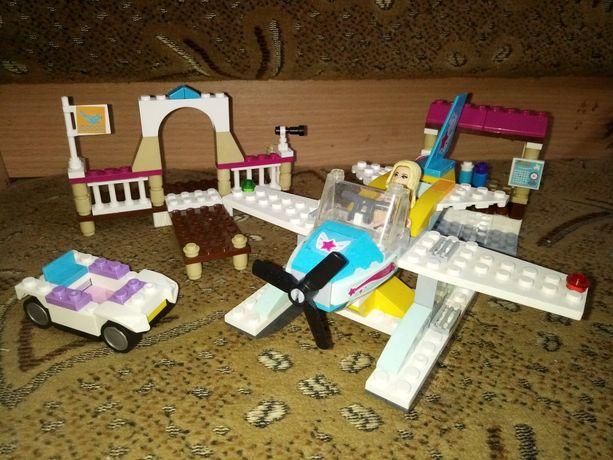 набор самолет стефани,аналог лего френдс lego friends+машинка в подаро