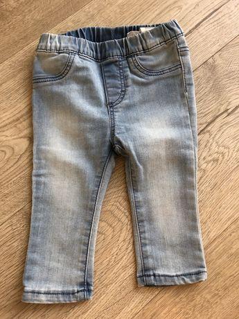 Spodenki niemowlęce jeansy H&M r 68