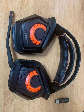 Asus strix wireless наушники с 5.1 беспроводные USB игровые