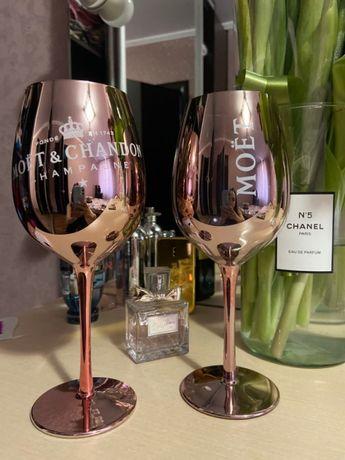 БОКАЛЫ СТЕКЛО, Moet & Chandon 0,5 л, для шампанского и вина, Чехия.