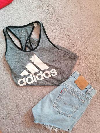 Koszulka na ramiączka Adidas trening siłownia M
