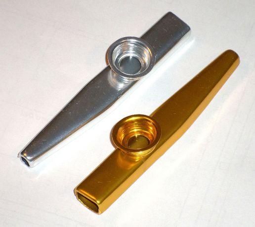 Казу + запасная мембранка музыкальный инструмент металлический Kazoo