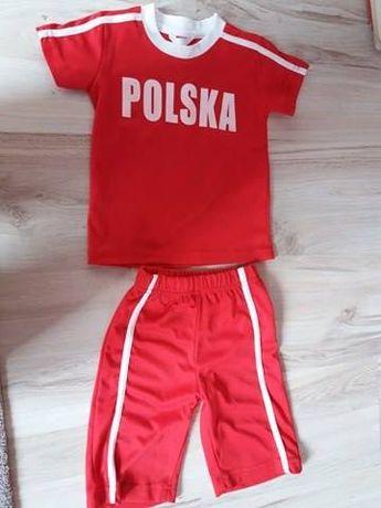 strój piłkarski, mały Polak-kibic 3 latka