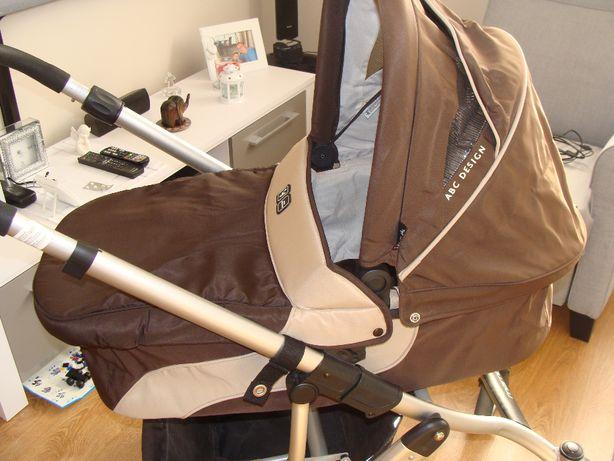 Wózek głęboki, spacerówka, nosidełko MAMBA ABC Design jak nowy 3 w 1
