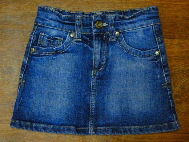 джинсовая юбка 4-5 лет длина 26 см пояс 26-29 см