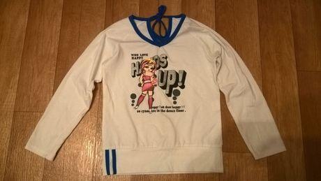 Bluzka biała dziewczęca wiek 8-9 lat