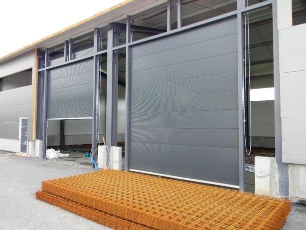 Brama segmentowa garażowa - przemysłowa 295 cm x 225 cm
