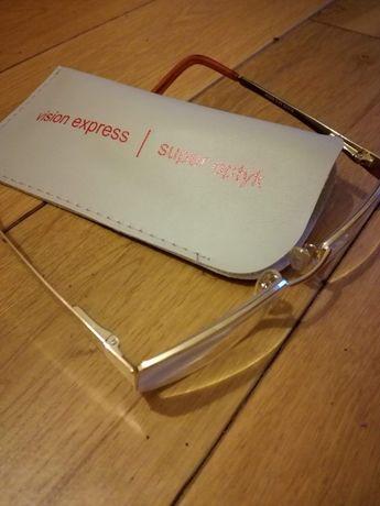 Oprawki damskie, okulary złote