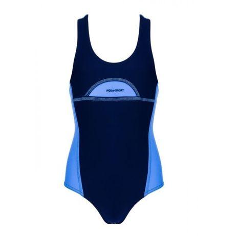 Aqua-sport kostium sportowy basenowy junior sylvia-fluo navy roz 152