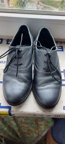 Туфли женские серебро