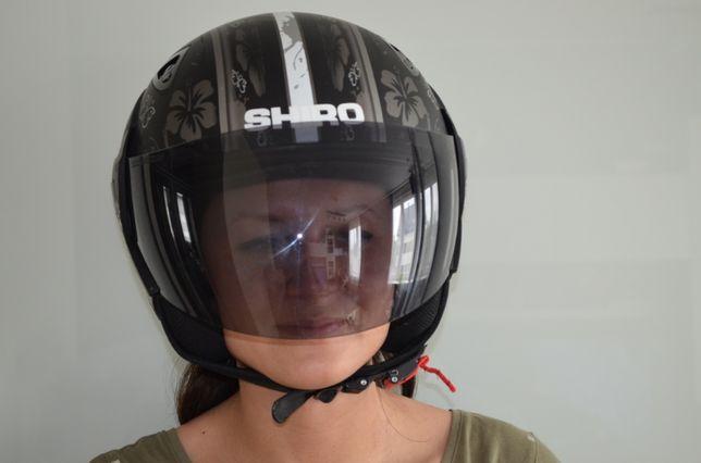 Nowy kask Shiro motocyklowy skuter shoei super wzór