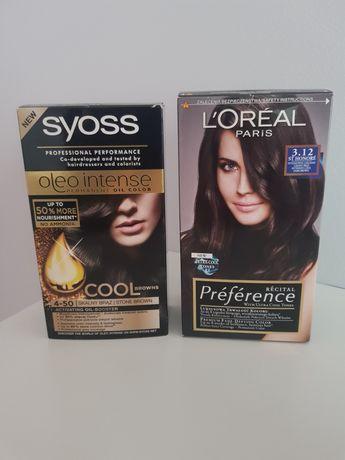 Farby do włosów l'oreal preference, syoss oleo intense