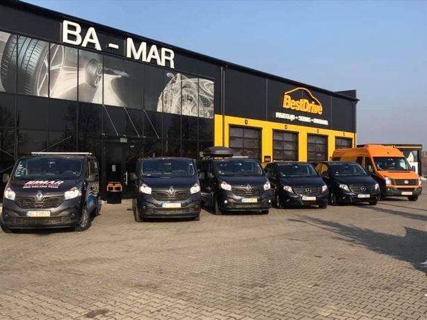 Wynajem Busa 9 osób dostawcze osobowe , PLANDEKA 10 EPAL KAMPER