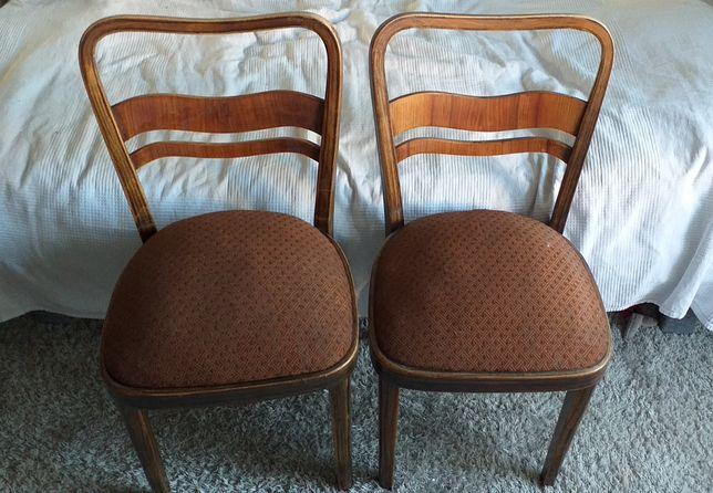 Dwa krzesła przedwojenne Radomsko