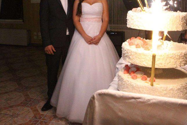 Suknia ślubna z krysztalkami Svarowskiego